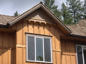 plywood with batts siding